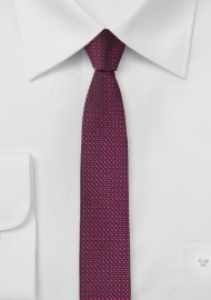 Super Skinny Tie in Watermelon Pink