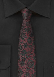 Fig Red Floral Silk Tie