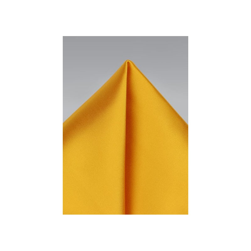 Golden Saffron Pocket Square