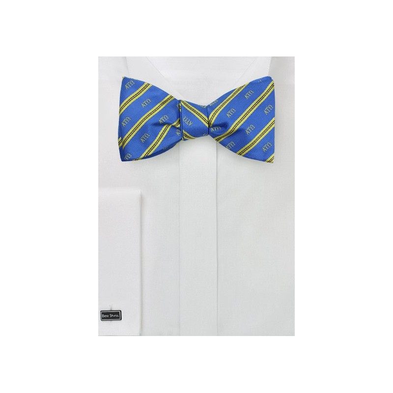 Striped Self Tie Bow Tie for Alpha Tau Omega