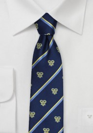 Striped Skinny Tie for Delta Upsilon