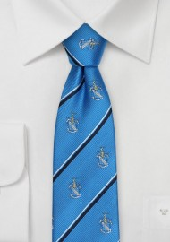 Crested Skinny Cut Tie for Phi Delta Theta