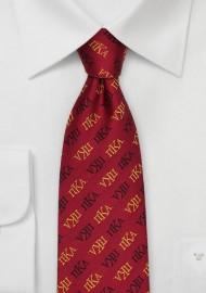 Pi Kappa Alpha Silk Necktie
