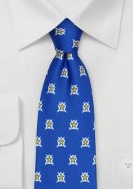 Printed Silk Tie for Pi Kappa Phi
