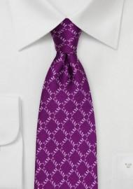 Sigma Alpha Mu Silk Tie