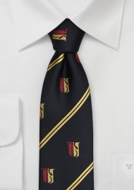 Black and Gold Striped Tie for Theta Chi