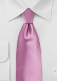 Orchid Pink Tie in XL Length