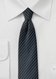Jet Black Pencil Stripe Tie