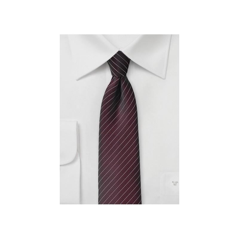 Fig Colored Pin Stripe Necktie