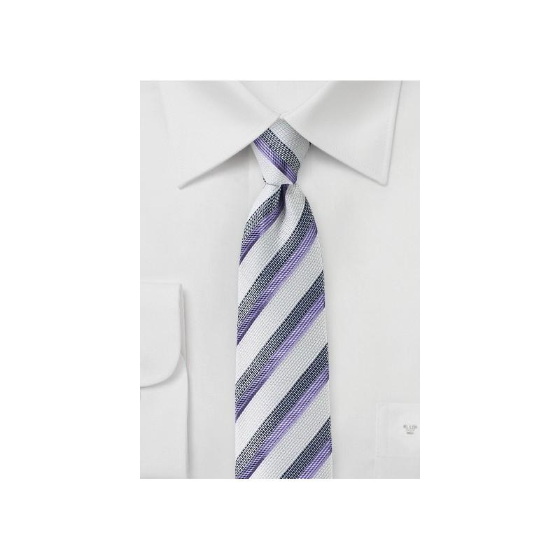 Summer Silk and Linen Striped Tie