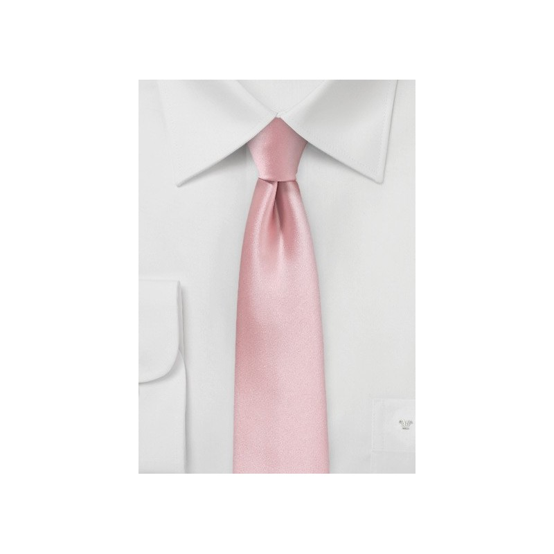 Satin Skinny Mens Tie in Petal