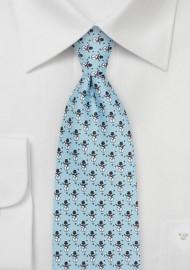 Snowman Tie in Ice Blue