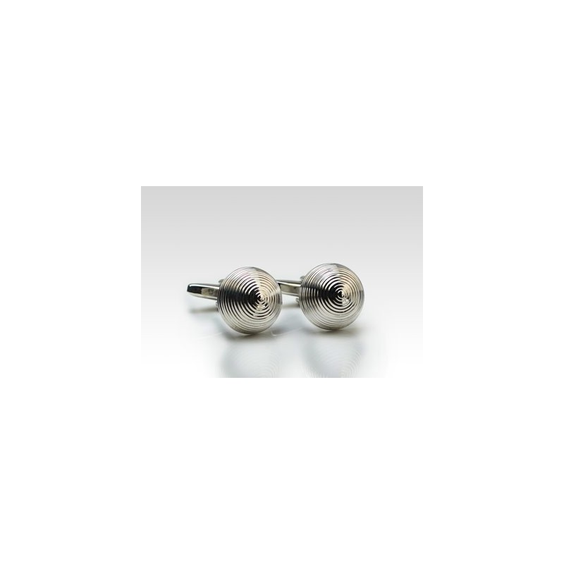 Silver Designer Cufflink Set