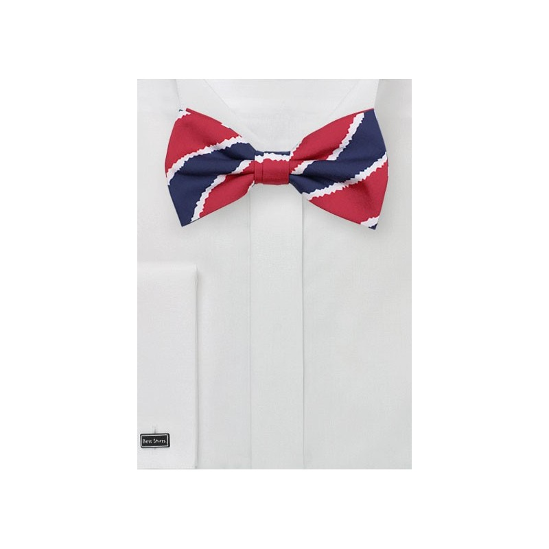 Patriotic Bowtie in Printed Cotton Fabric