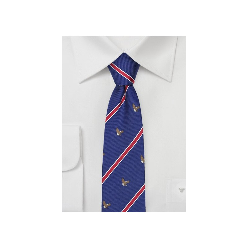 Striped Tie with Bald Eagles