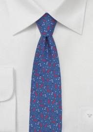 Firecracker Print Summer Tie