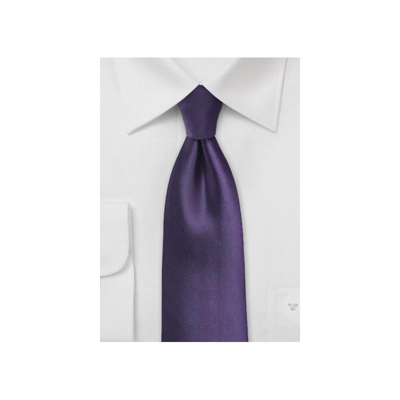 Solid XL Length Tie in Majesty Purple