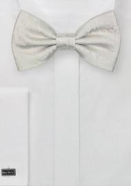 Light Ivory Paisley Bow Tie
