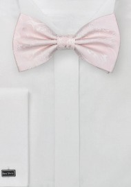Blush Pink Paisley Bow Tie
