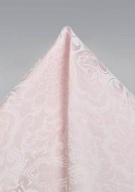 Blush Pink Paisley Pocket Square