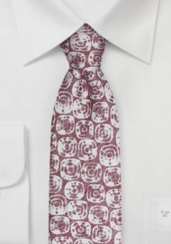 Summer Linen Tie in Faded Red