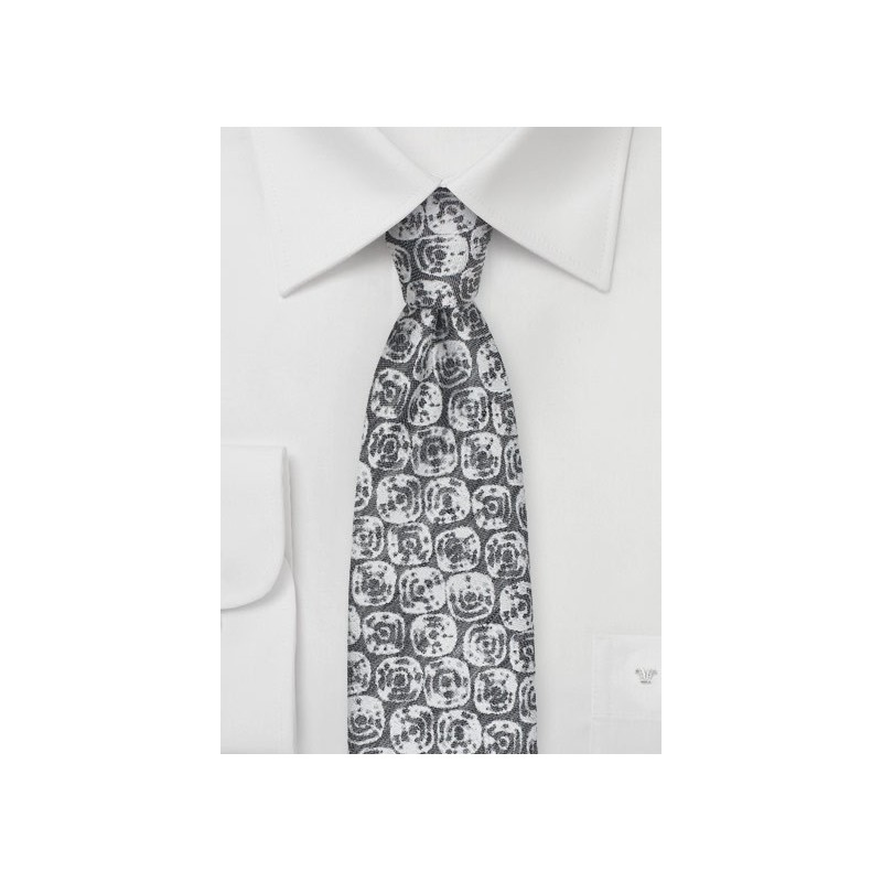 Linen Summer Tie in Taupe Gray