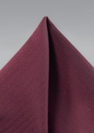 Wine Red Textured Pocket Squre