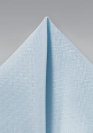 Herringbone Pocket Square in Powder Blue
