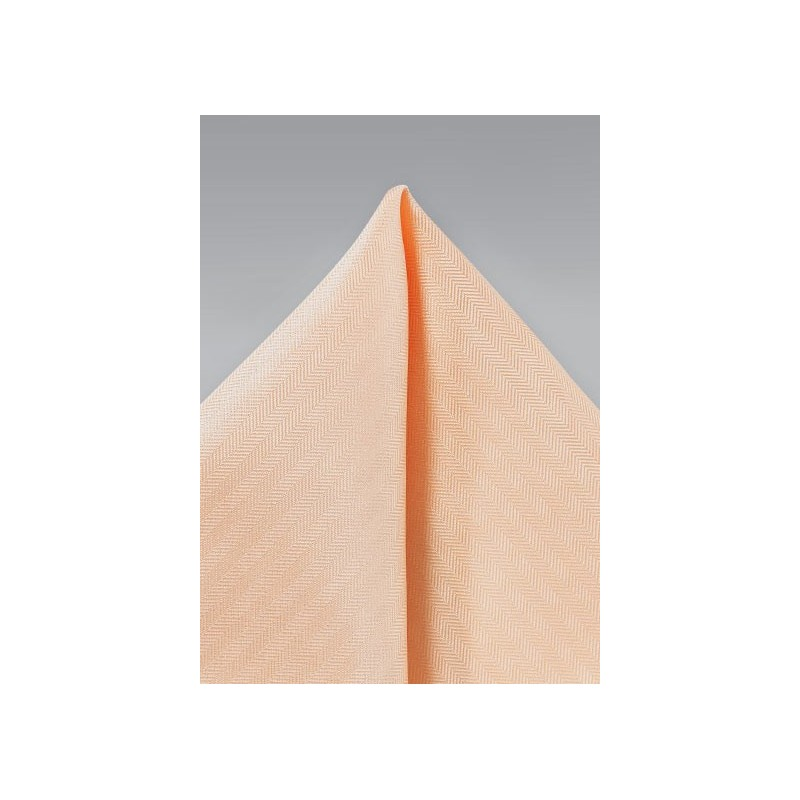 Men's Textured Hanky in Peach Apricot