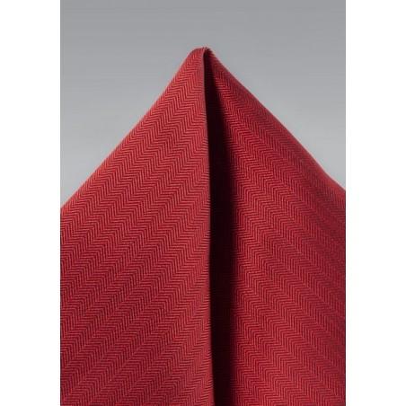 Cherry Red Hued Mens Pocket Square