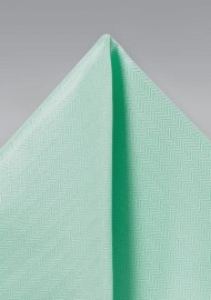 Mint Hued Pocket Square