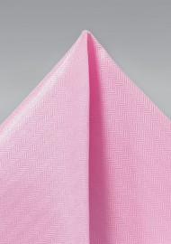 Carnation Pink Textured Pocket Square