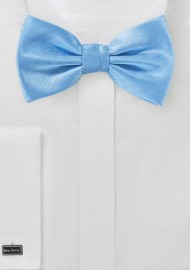 Sky Blue Herringbone Texture Bow Tie