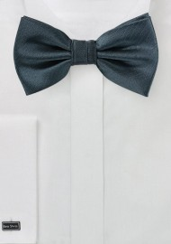 Smoke Gray Herringbone Bow Tie