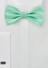 Solid Textured Bow Tie in Fresh Mint