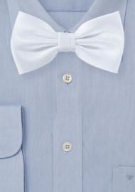 Matte Woven Bowtie in Classic White