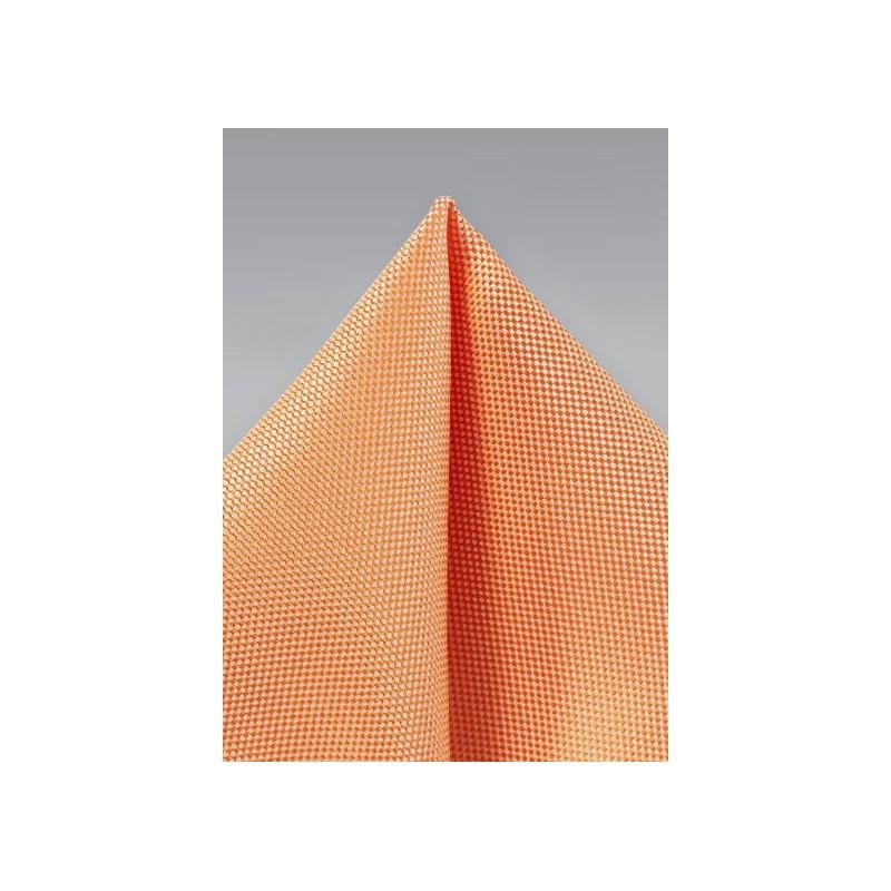 Tangerine Men's Summer Pocket Square