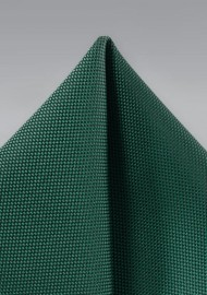 Dark Green Textured Pocket Square