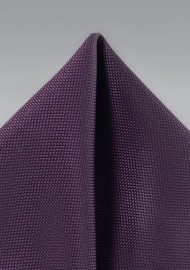 Matte Finish Pocket Square in Grape