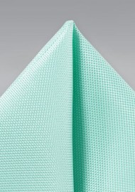 Textured Pocket Square in Light Aqua
