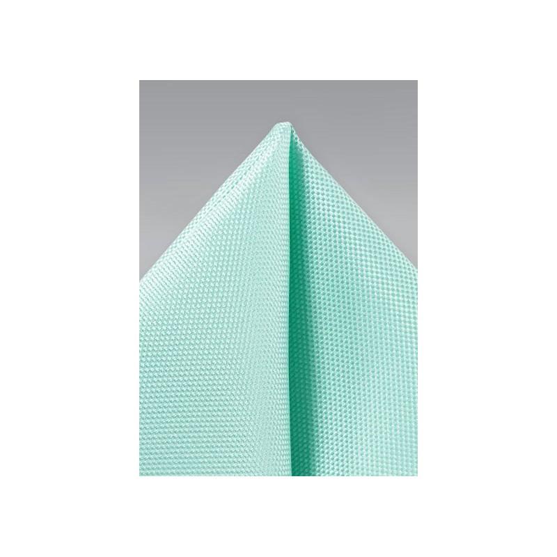 Textured Pocket Square in Light Aqua