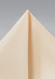 Textured Pocket Square in Light Peach
