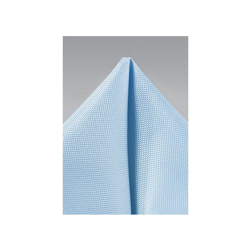 Light Baby Blue Mens Pocket Square