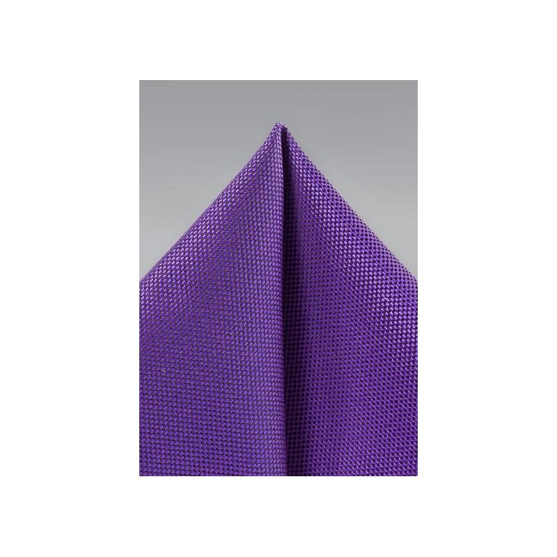 Violet Matte Pocket Square