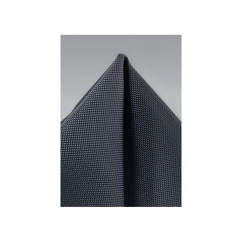 Pewter Gray Textured Pocket Square