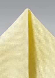Pastel Yellow Textured Pocket Square