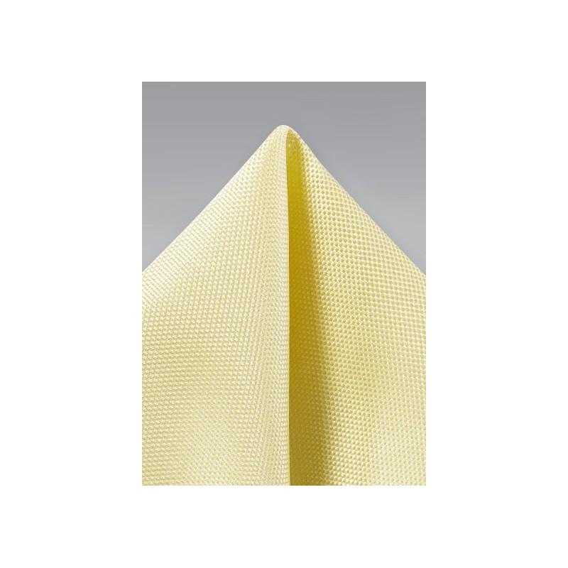 Pastel Yellow Textured Pocket Square