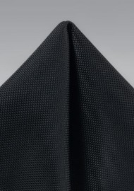Matte Black Textured Pocket Square