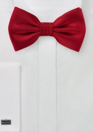 Matte Finish Bow Tie in Red