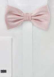 Textured Bow Tie in Peach Blush